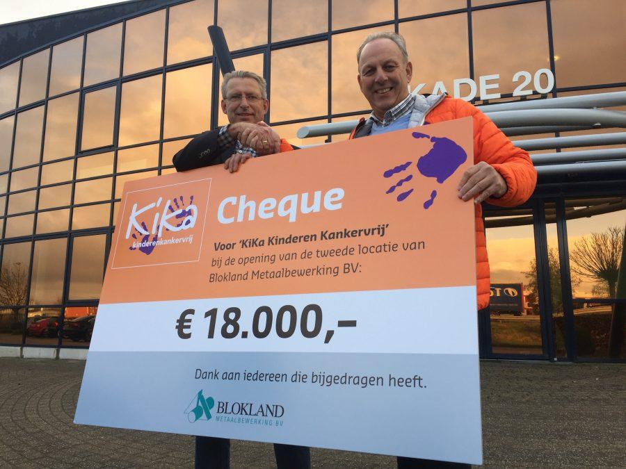 Open Huis Blokland Metaalbewerking levert 18.000 euro op voor KiKa